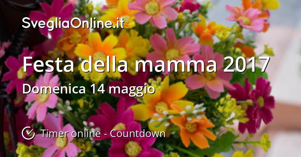 Festa Della Mamma 2017 Timer Online Countdown