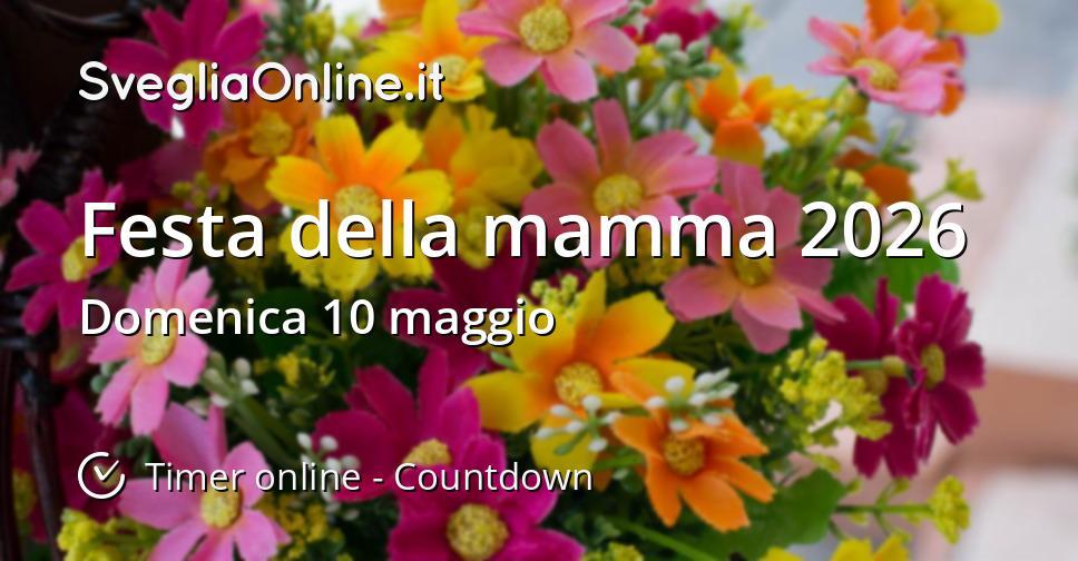 Festa della mamma 2026